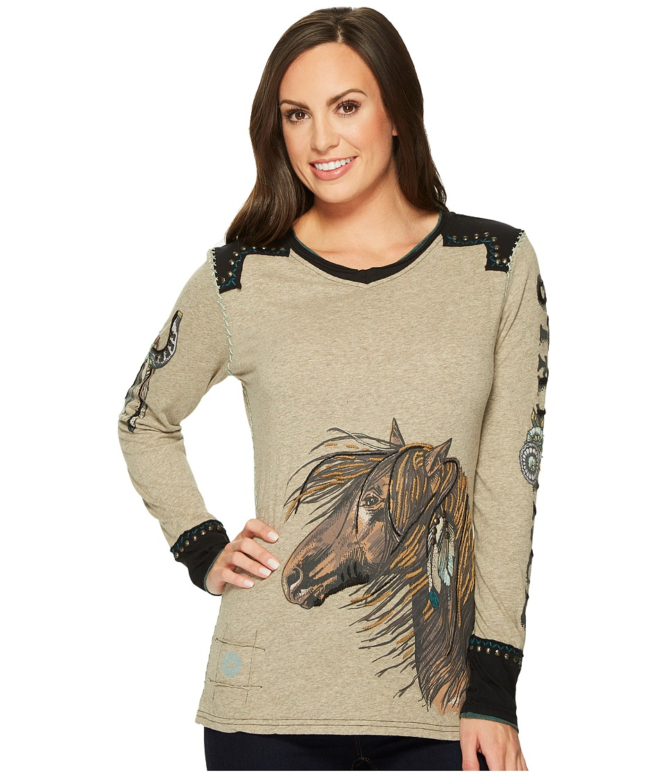 Double D Ranchwear Restless One Tee (Adobe Mud) Women