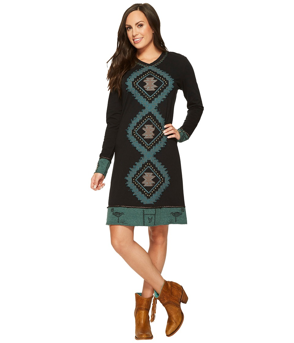 Double D Ranchwear - Wild Horse Arroyo Dress (Black) Womens Dress