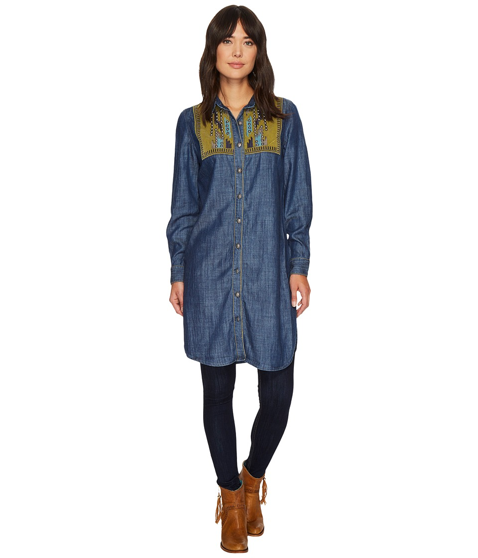 Double D Ranchwear - Chimayo Chant Tunic (Dark Denim) Womens Blouse