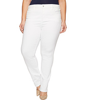 NYDJ Plus Size - Plus Size Marilyn Straight Jeans in Endless White