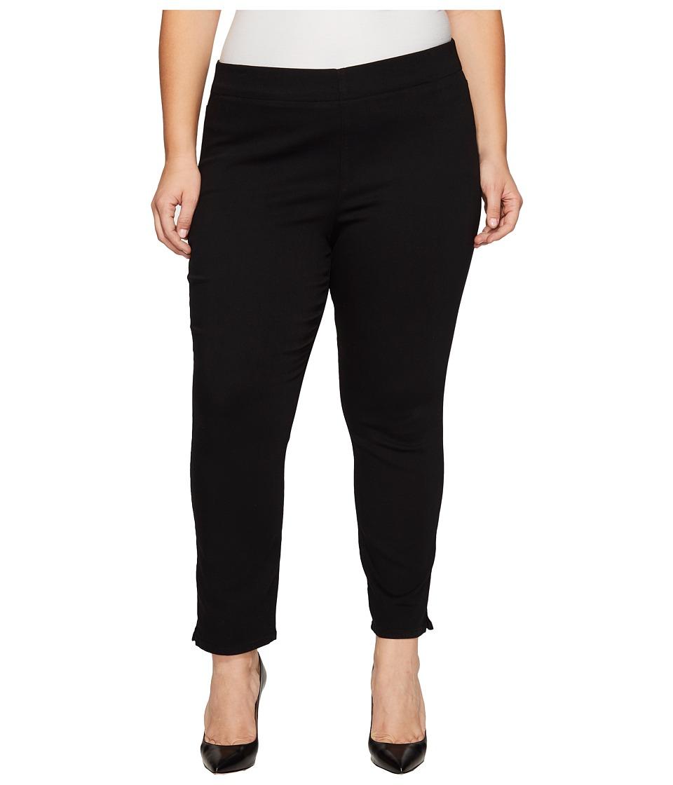 NYDJ Plus Size Plus Size Alina Pull-On Ankle in Black (Black) Women