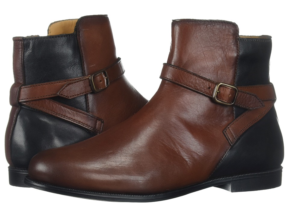 Sebago Plaza Ankle Boot (Cognac/Black Leather) Women