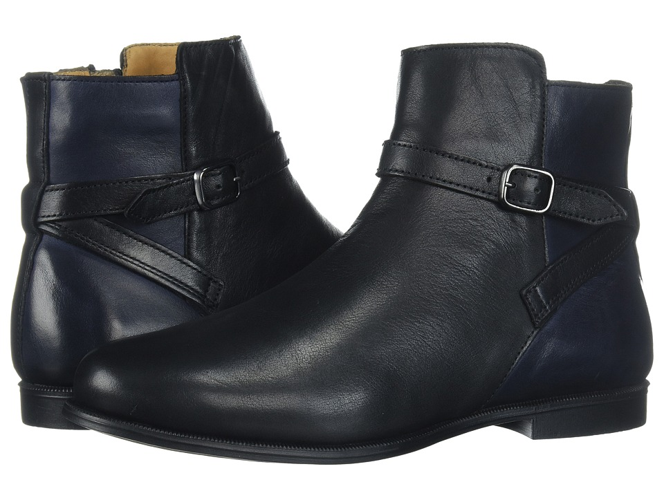 Sebago Plaza Ankle Boot (Black/Navy Leather) Women