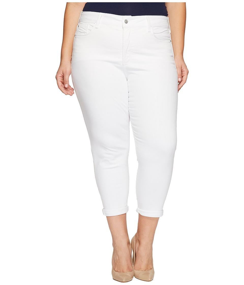 NYDJ Plus Size Plus Size Alina Convertible Ankle in Optic White (Optic White) Women