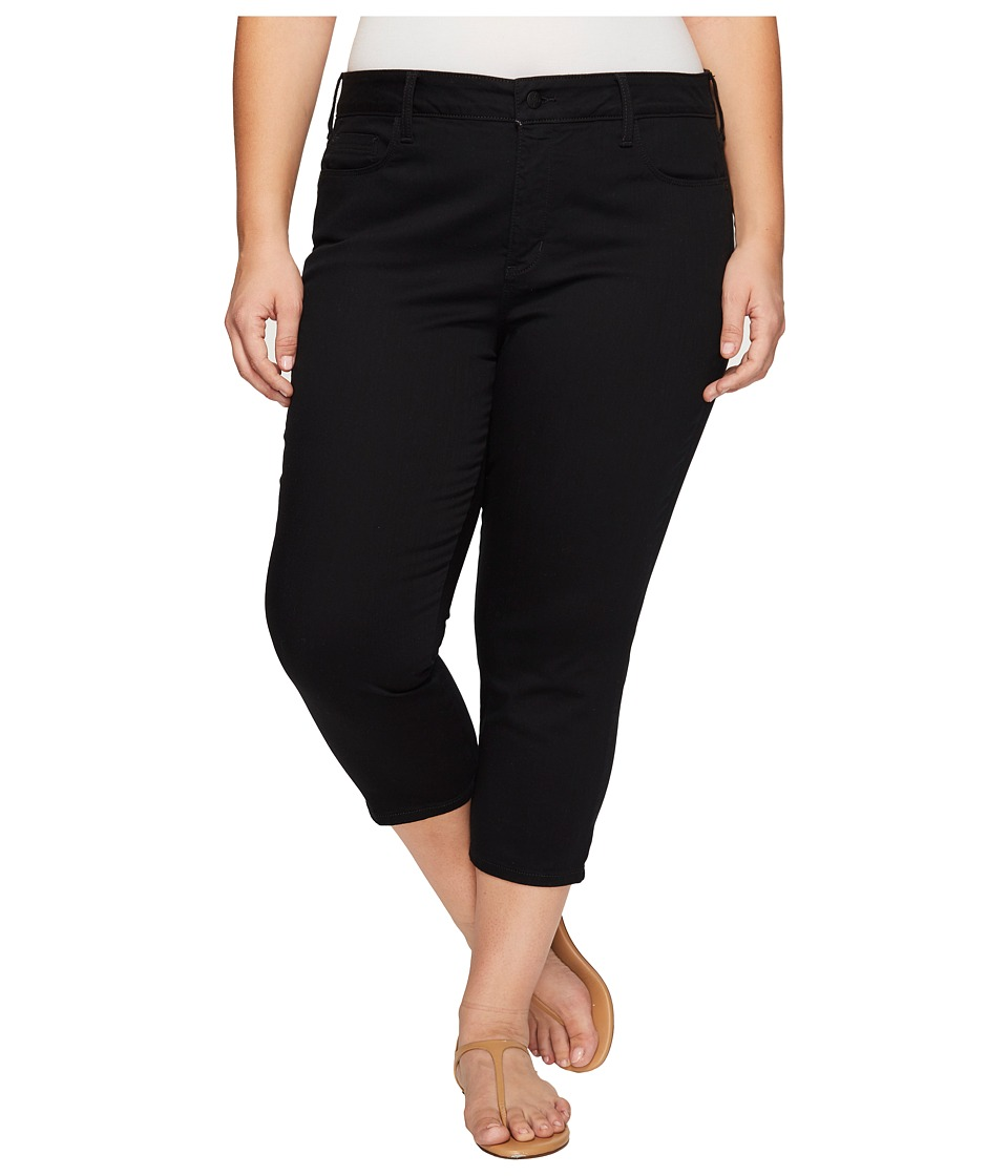 NYDJ Plus Size Plus Size Alina Capris in Black (Black) Women