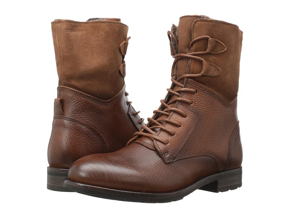 Sebago Laney Lace Boot (Cognac Leather/Suede) Women