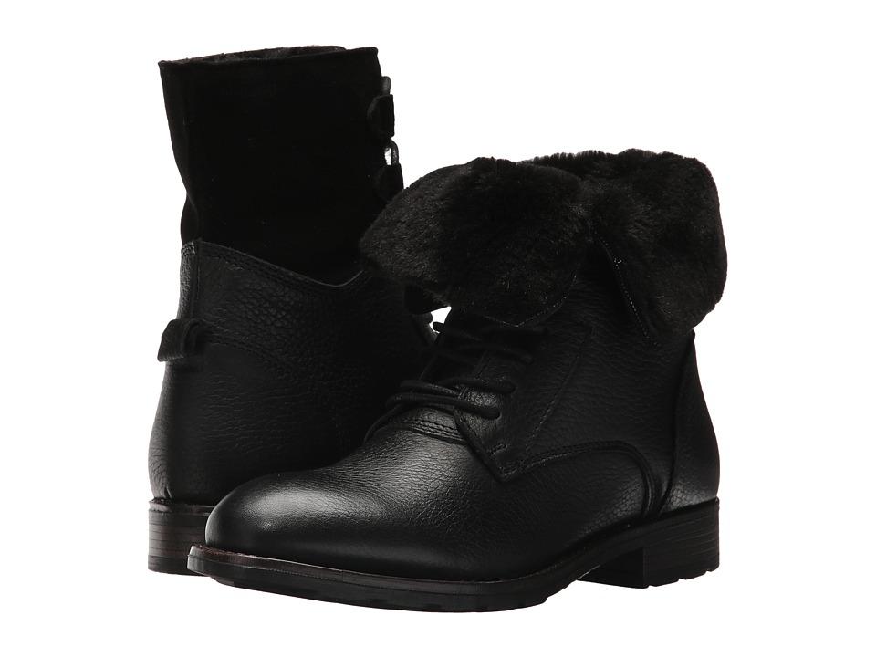 Sebago Laney Lace Boot (Black Leather/Suede) Women