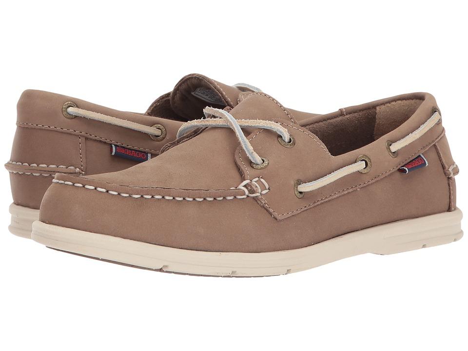 Sebago - Litesides Two Eye (Dark Taupe Leather) Womens Shoes