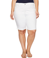 NYDJ Plus Size - Plus Size Briella Shorts in Optic White