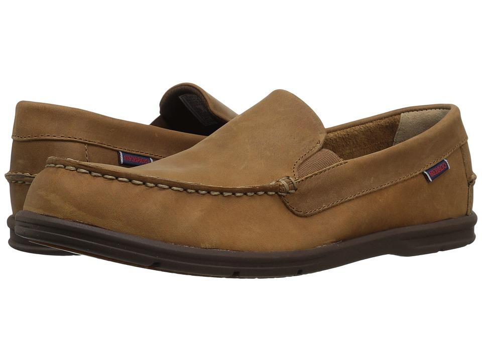 Sebago Litesides Slip-On (Medium Brown Leather/Brown Outsole) Men