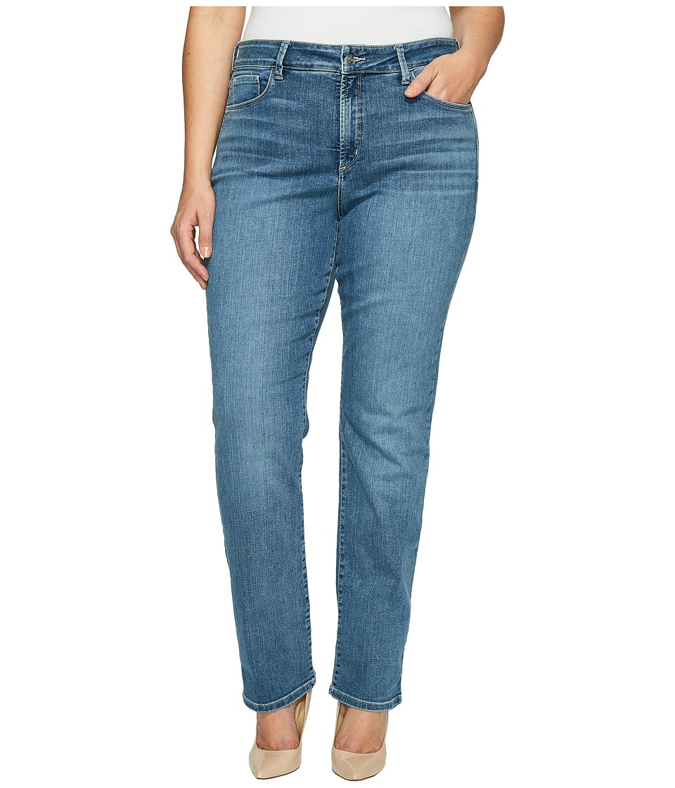 NYDJ Plus Size Plue Size Marilyn Straight in Heyburn Wash (Heyburn Wash) Women