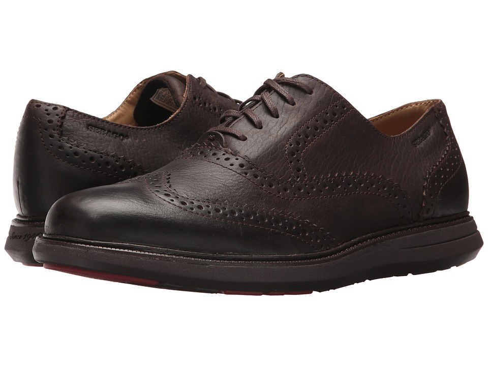 Sebago Smyth Wing Tip (Dark Brown Leather) Men