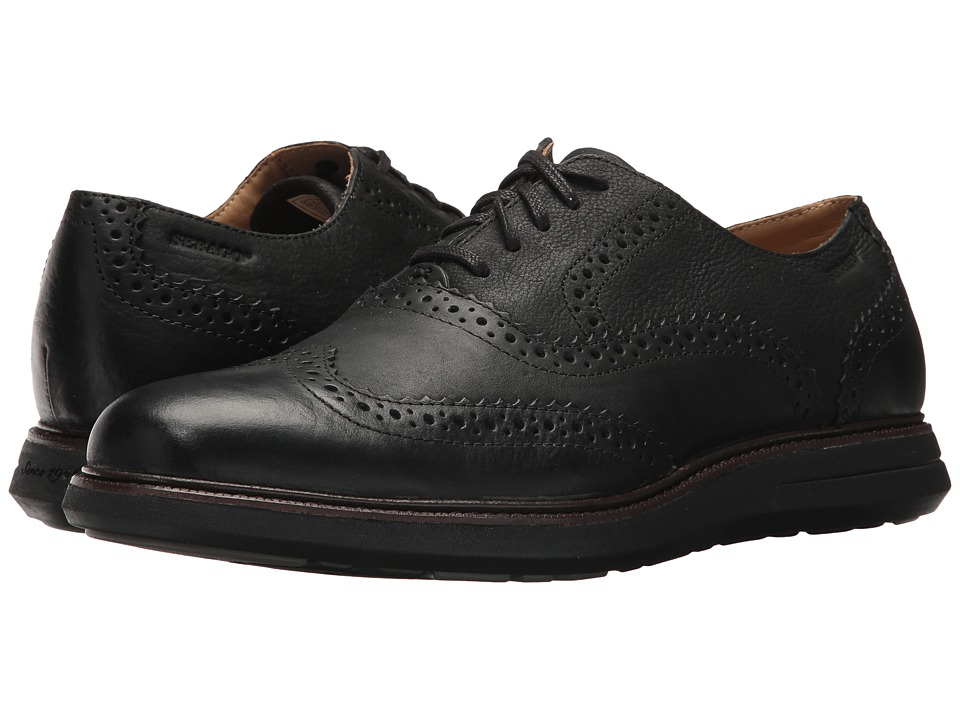 Sebago Smyth Wing Tip (Black Leather) Men
