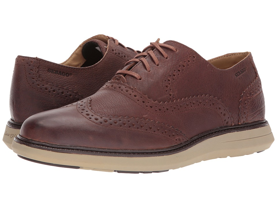 Sebago Smyth Wing Tip (Brown Leather) Men
