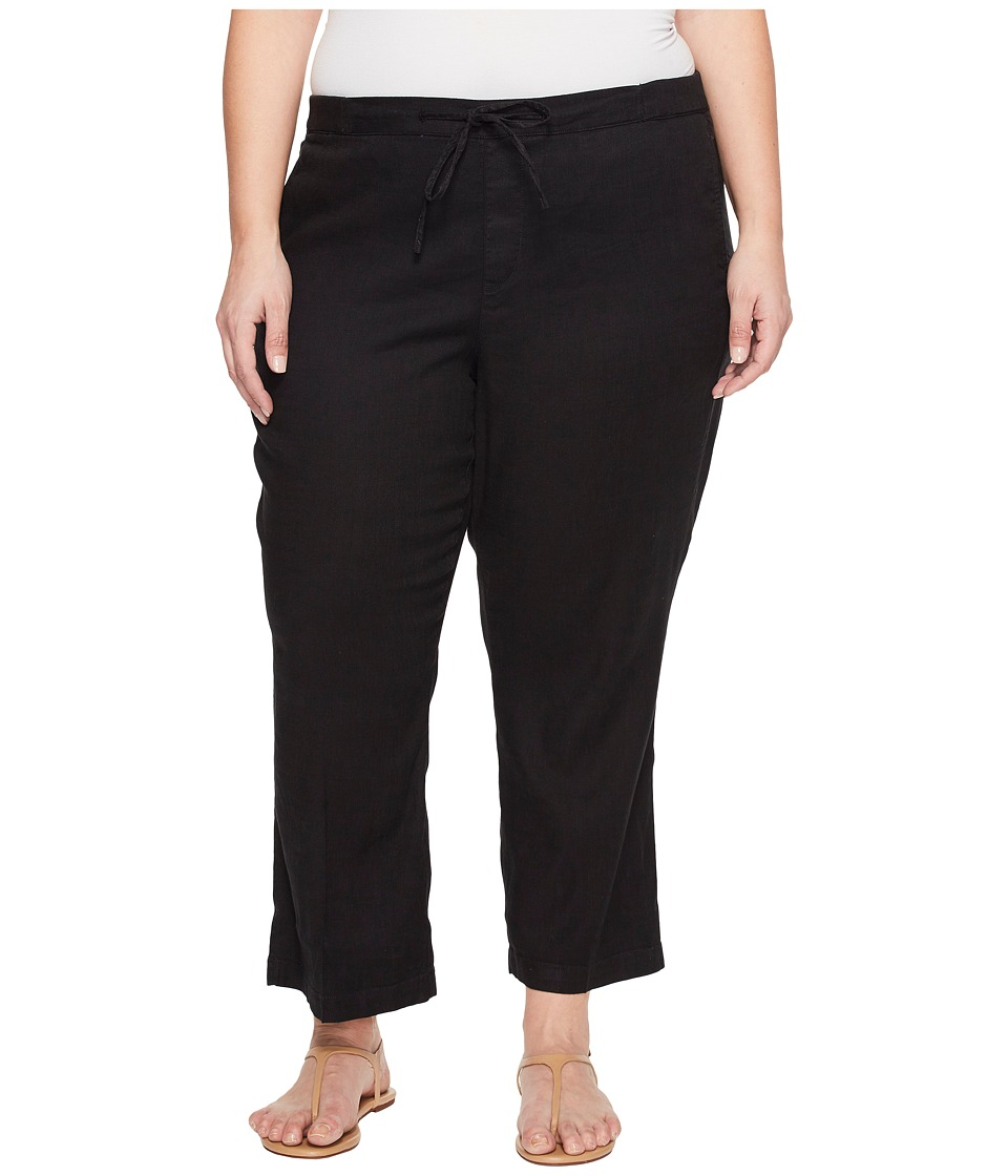 NYDJ Plus Size Plue Size Drawstring Ankle Pants in Black (Black) Women