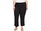 NYDJ Plus Size Plue Size Drawstring Ankle Pants in Black