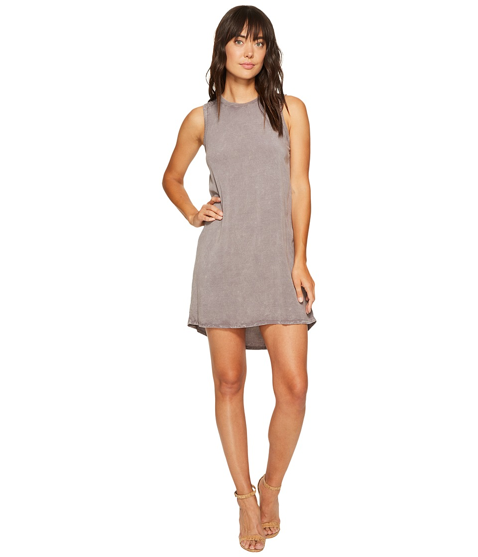 Allen Allen High-Low Tank Dress (Dark Grey) Women