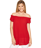 Allen Allen - Ruffle Edge Off the Shoulder Top