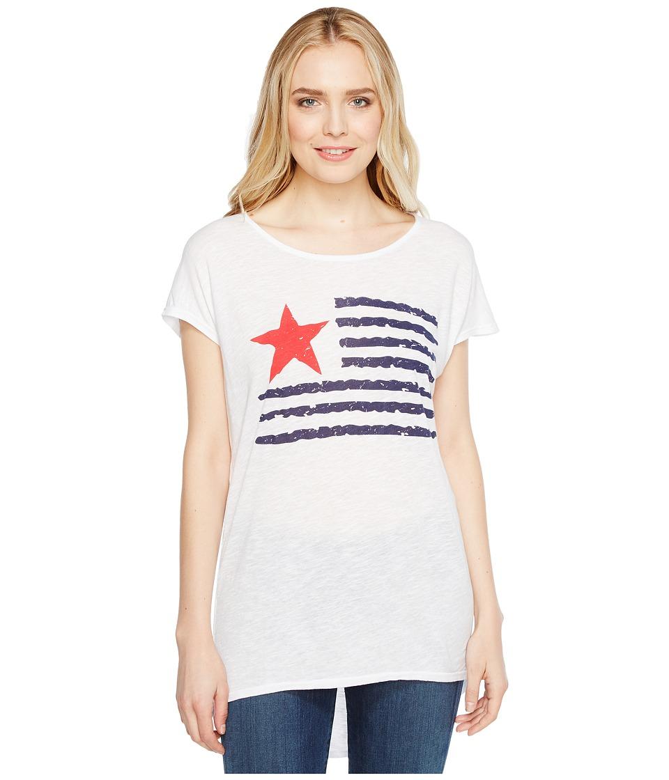 Allen Allen Star Flag Tee (White) Women