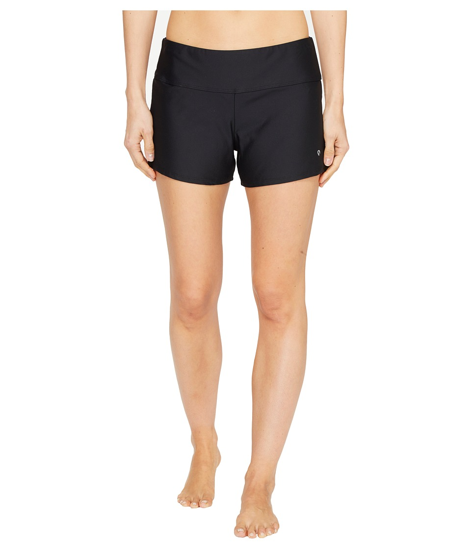 Next by Athena Good Karma Jump Start Mid Rise Swim Shorts (Black) Women