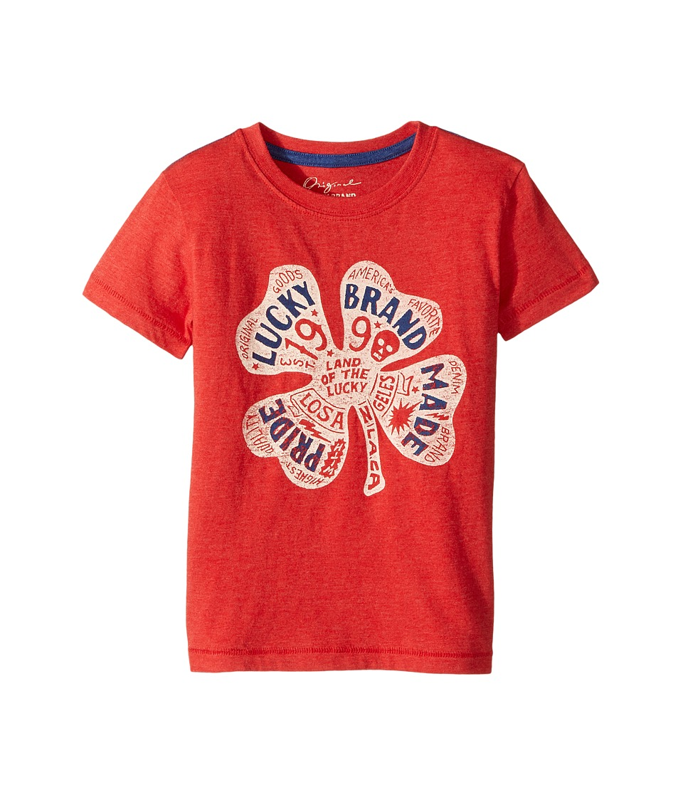 Lucky Brand Kids Lucky Pride Tee (Little Kids/Big Kids) (Red Pepper) Boy