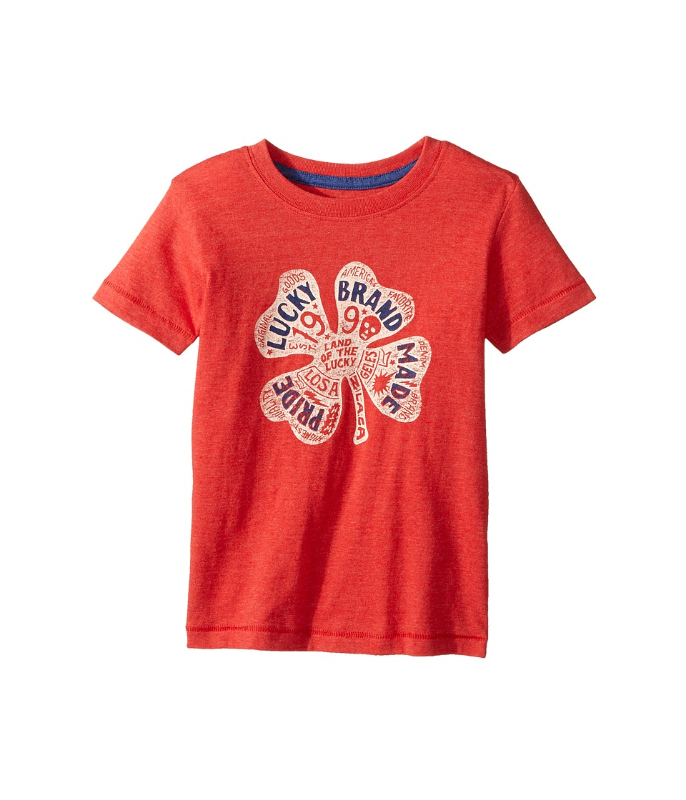 Lucky Brand Kids Lucky Pride Tee (Toddler) (Red Pepper) Boy
