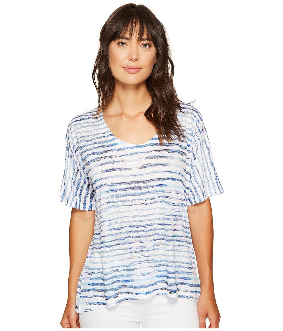 Nally & Millie - Printed Stripe Burnout Top