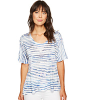 Nally & Millie - Printed Stripe Burnout Top