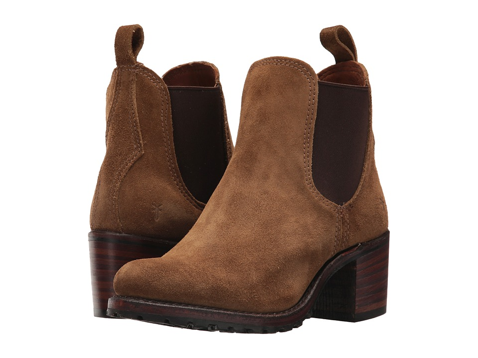 Frye Sabrina Chelsea (Chestnut Oiled Suede) Women's Pull-on Boots