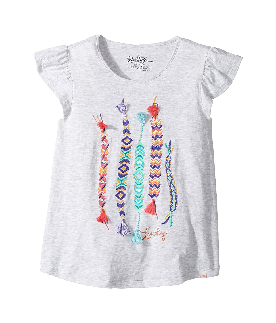 Lucky Brand Kids Friendship Tee (Big Kids) (White Heather) Girl
