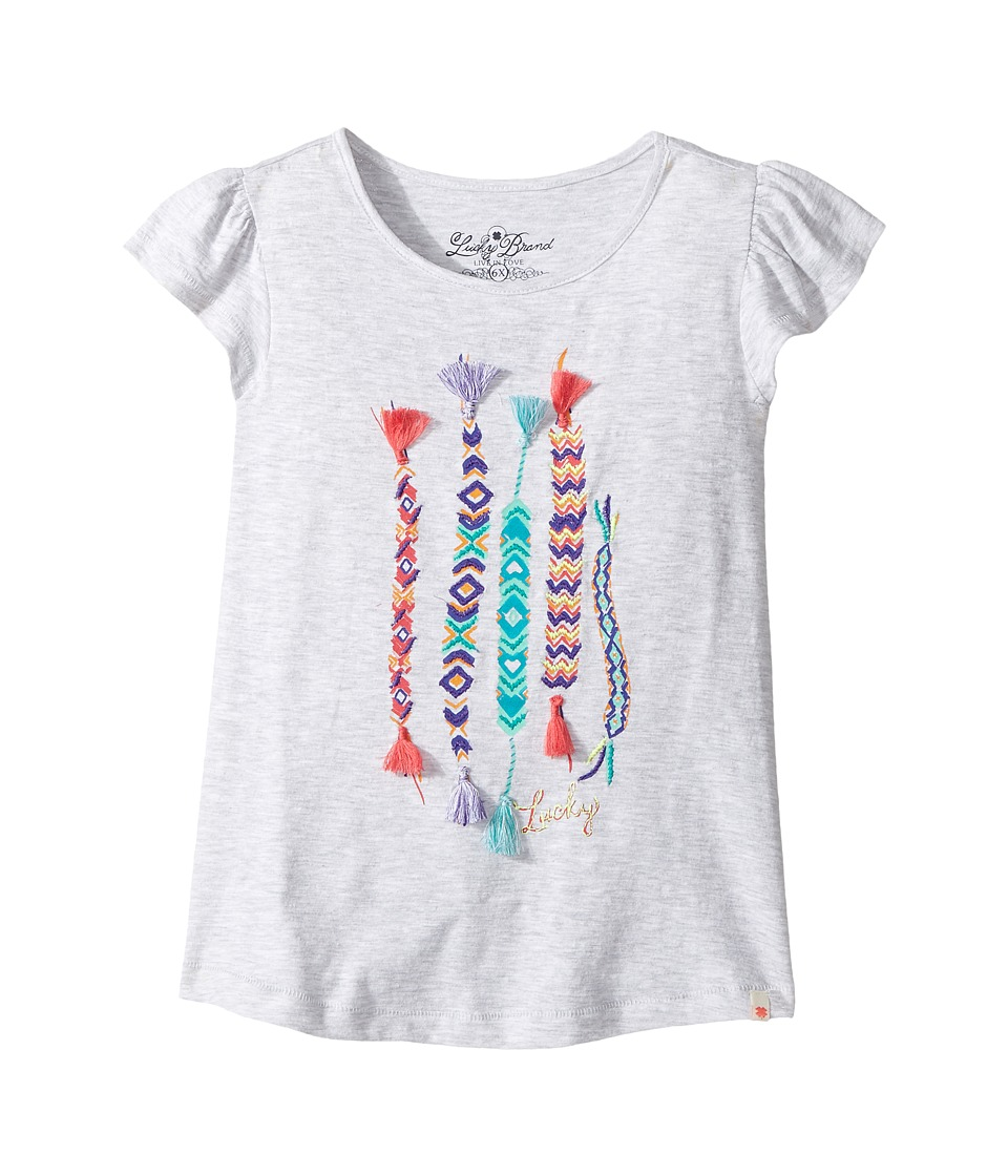 Lucky Brand Kids Friendship Tee (Little Kids) (White Heather) Girl