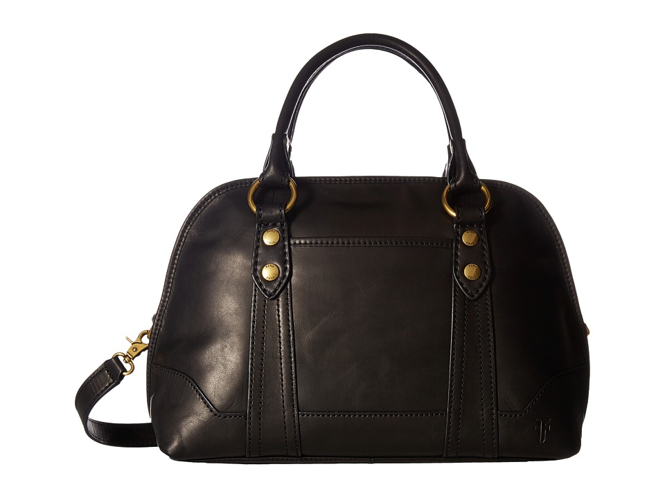 Frye - Melissa Domed Satchel (Black Smooth Full Grain) Satchel Handbags