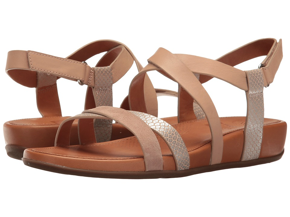 FitFlop Lumy Crisscross Sandals (Peachy/Silver Snake) Wom...