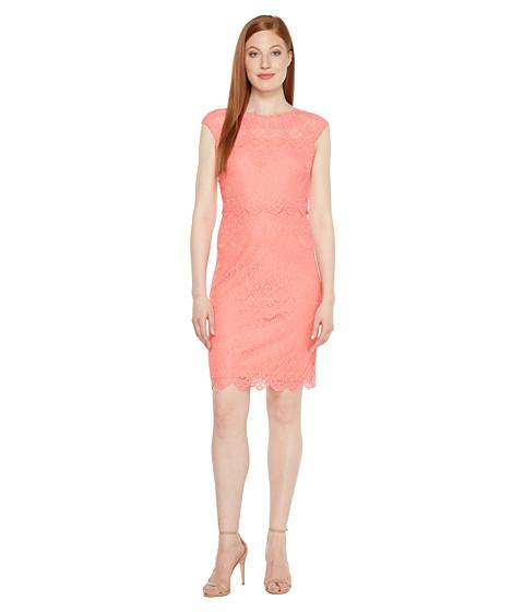 Sangria Pop Over Coral Dress