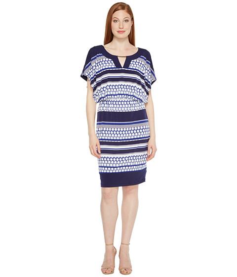 Sangria Jersey Blouson Dress