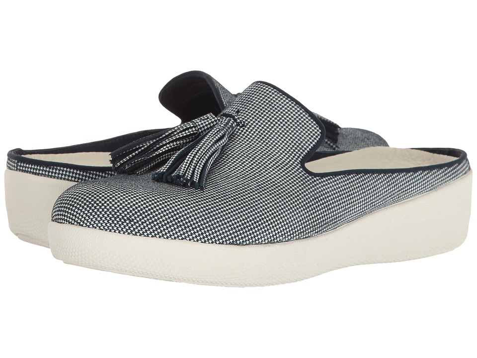 FitFlop Houndstooth Print Superskate Slip-On (Midnight Navy) Women