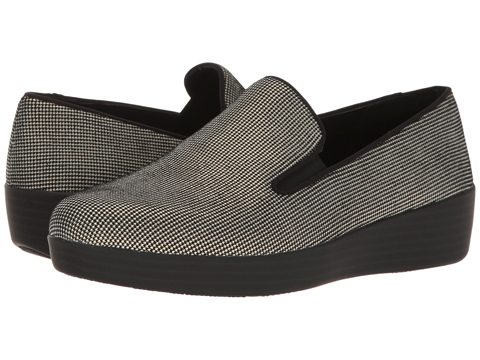 FitFlop Houndstooth Print Superskate (Black) Women