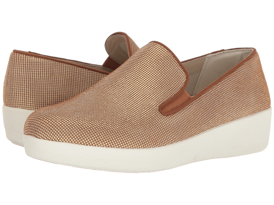 FitFlop Houndstooth Print Superskate (Pale Gold) Women
