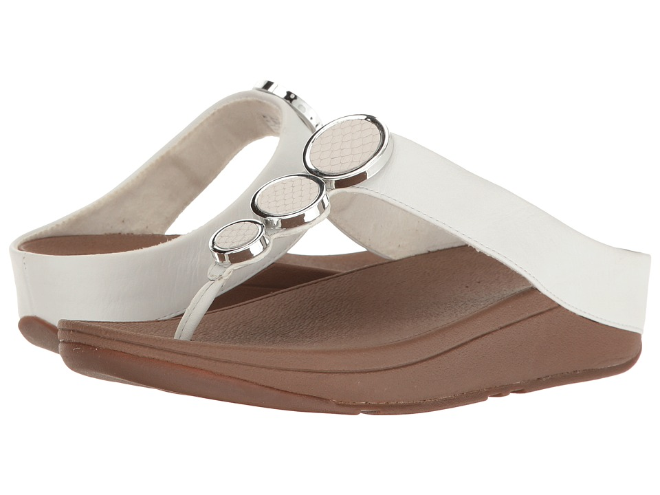 FitFlop Halo Toe Thong Sandals (Urban White) Women's  Shoes
