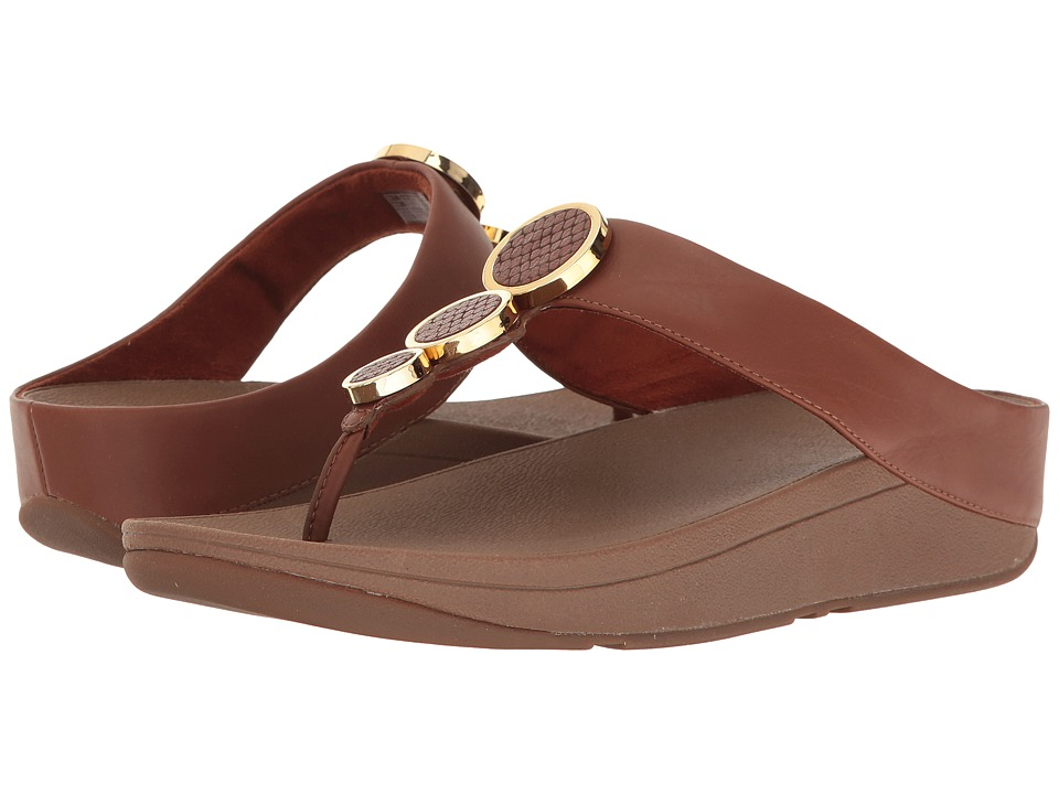FitFlop Halo Toe Thong Sandals (Dark Tan) Women's  Shoes
