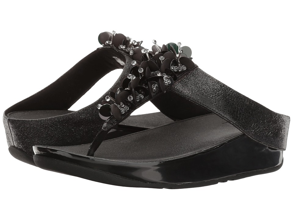 FitFlop Boogaloo Toe Post (Black) Women
