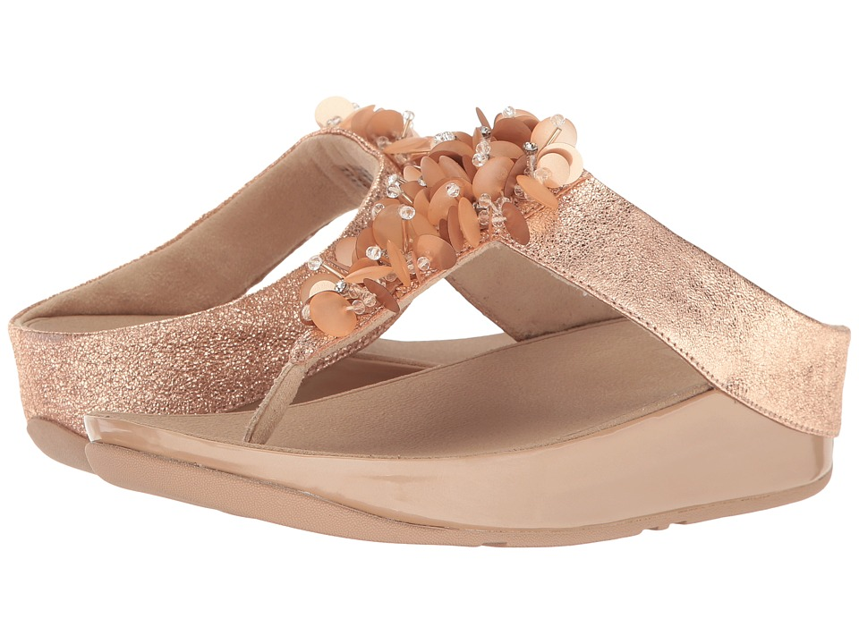 FitFlop Boogaloo Toe Post (Rose Gold) Women