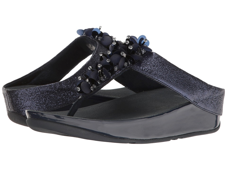 FitFlop Boogaloo Toe Post (Midnight Navy) Women
