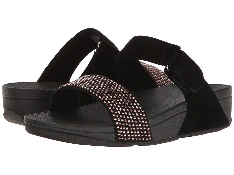 FitFlop Lulu Popstud Slide Sandal (Black) Women