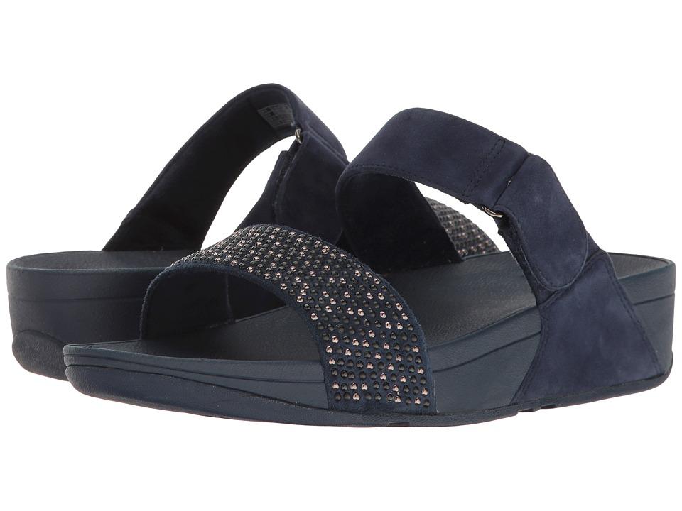 FitFlop Lulu Popstud Slide Sandal (Midnight Navy) Women