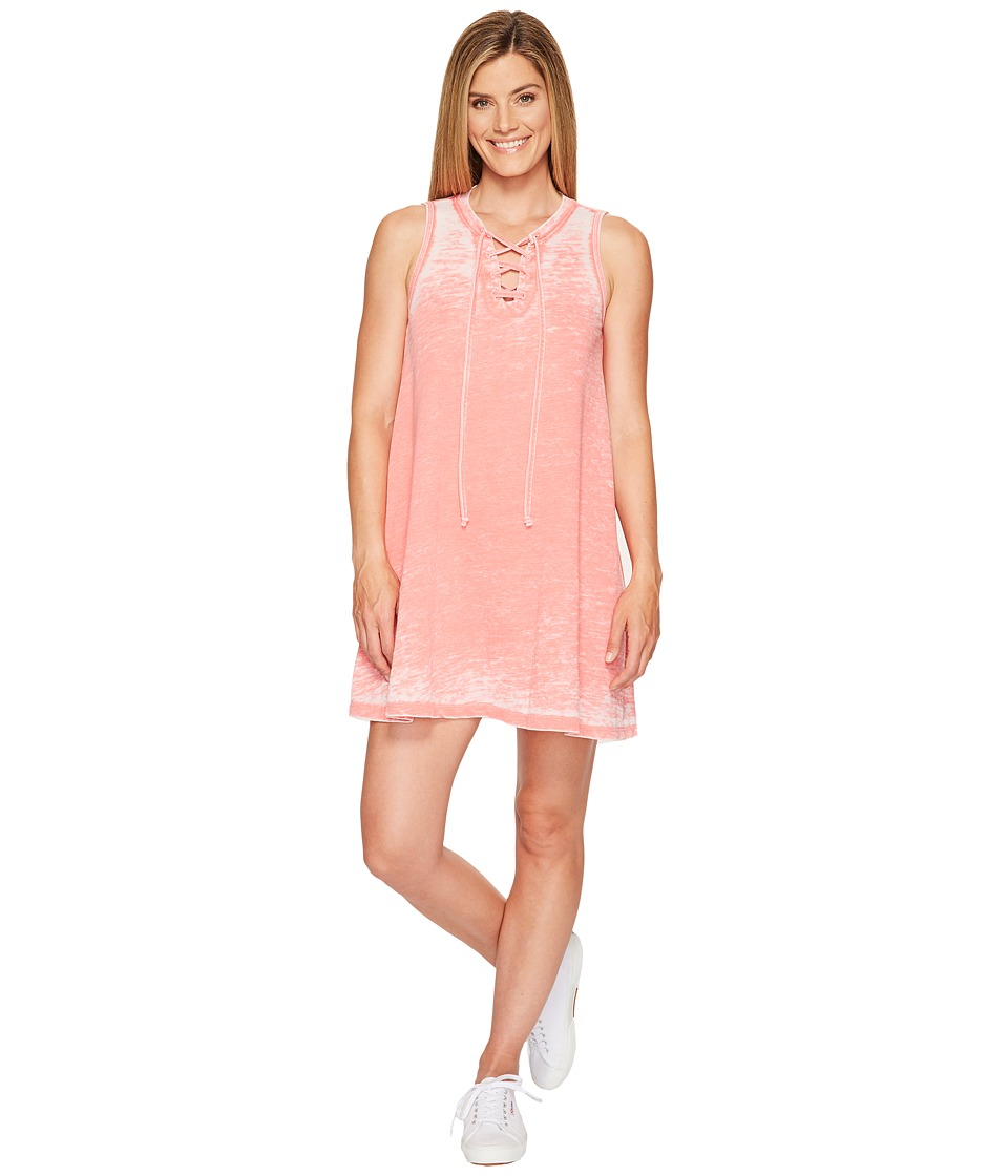 Allen Allen French Terry Tie Front Dress (Begonia) Women