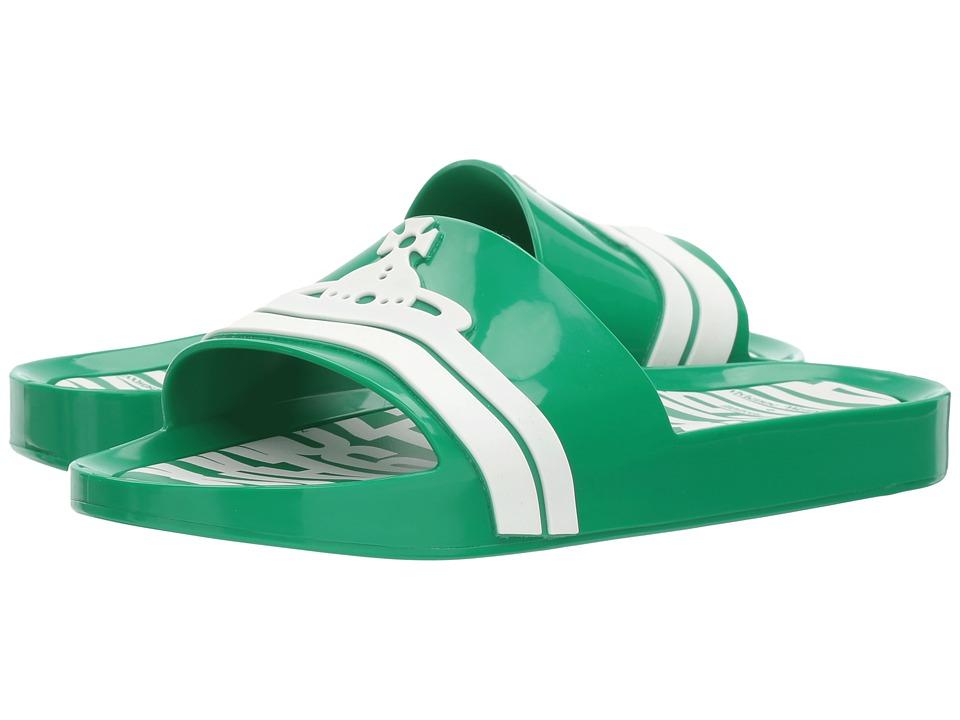 Vivienne Westwood Anglomania + Melissa Beach Slide (Green) Women