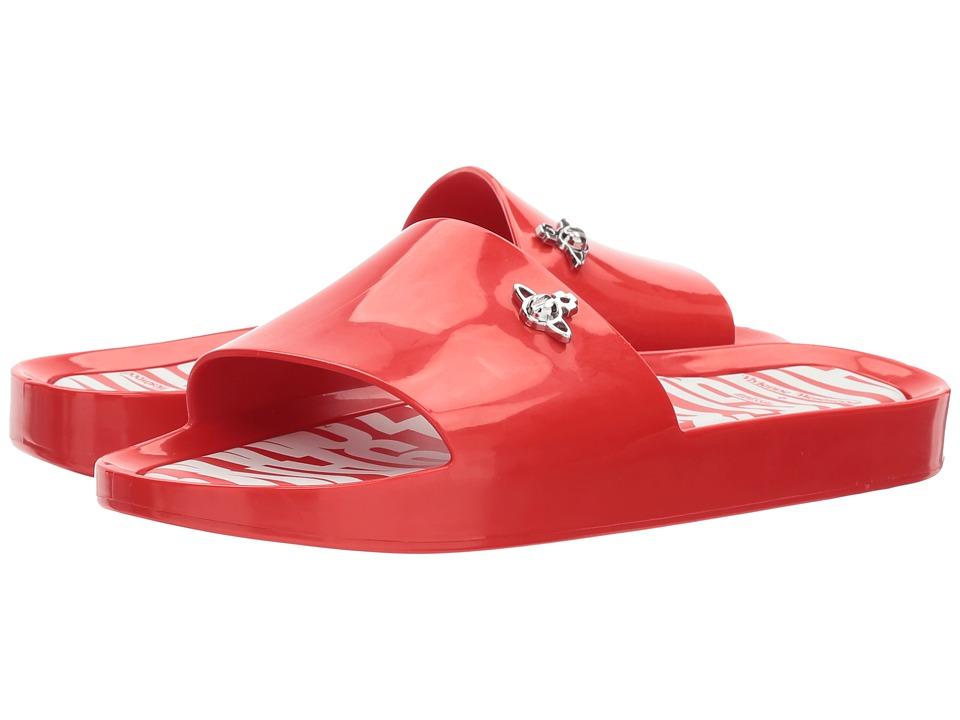 Vivienne Westwood Anglomania + Melissa Beach Slide (Red) Women