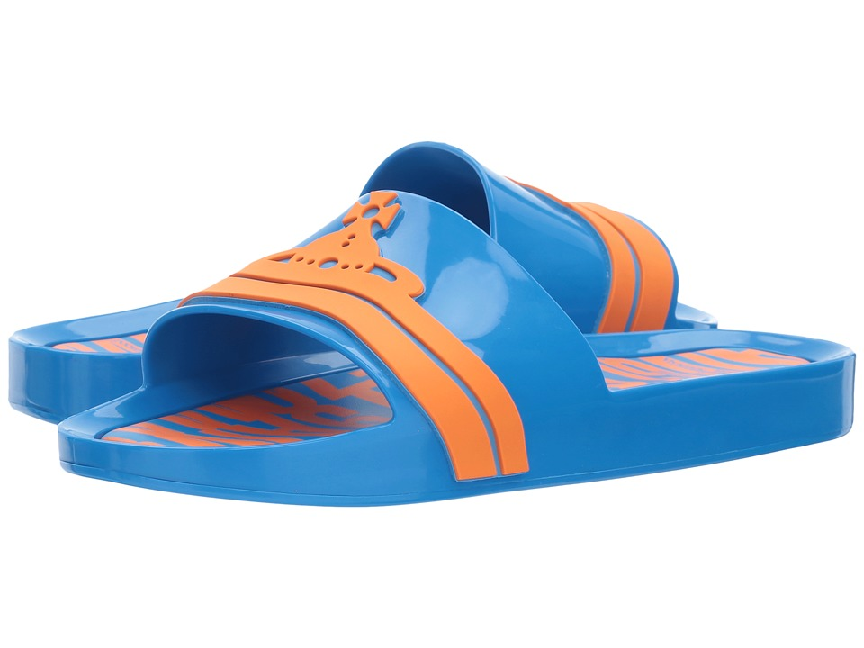 Vivienne Westwood Anglomania + Melissa Beach Slide (Blue/Orange) Women