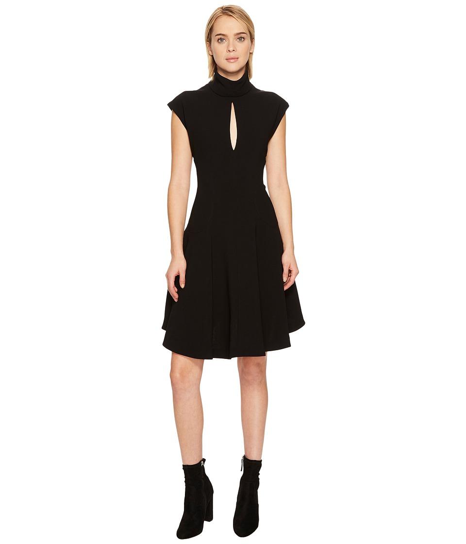 Neil Barrett Light Crepe Str. Cap Sleeve Dress (Black) Women